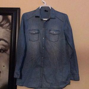 3/25$ light blue jeans shirt